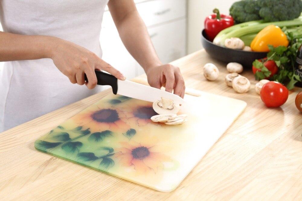 Tagliere Plastica con Scanalatura beige, 21x35 foro per appendere la preparazione del cibo in cucina Scanalatura per succhi verdura Tagliere in Plastica carne pane e frutta Besylo Tagliere